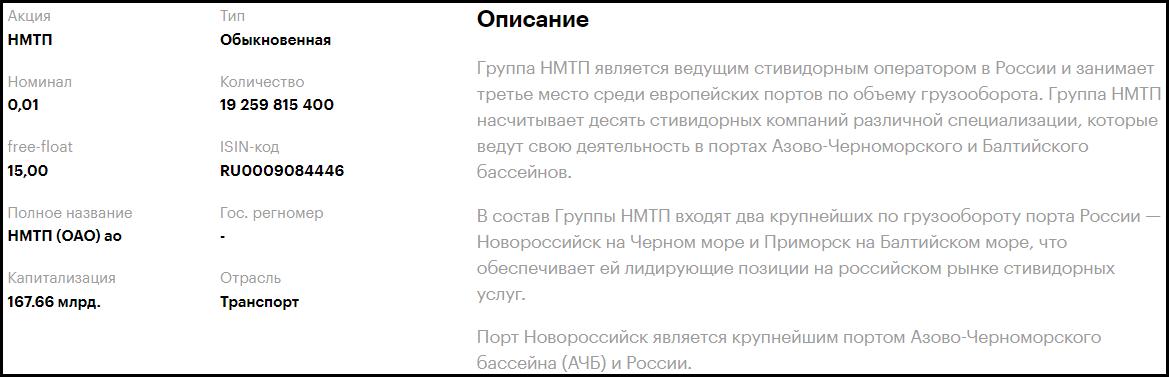 акции НМТП